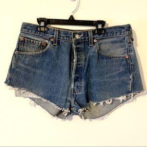 RARE Vintage 501xx Levi's High Rise Cut off Shorts